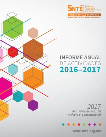 Informe Anual 2017 by SNTE - issuu