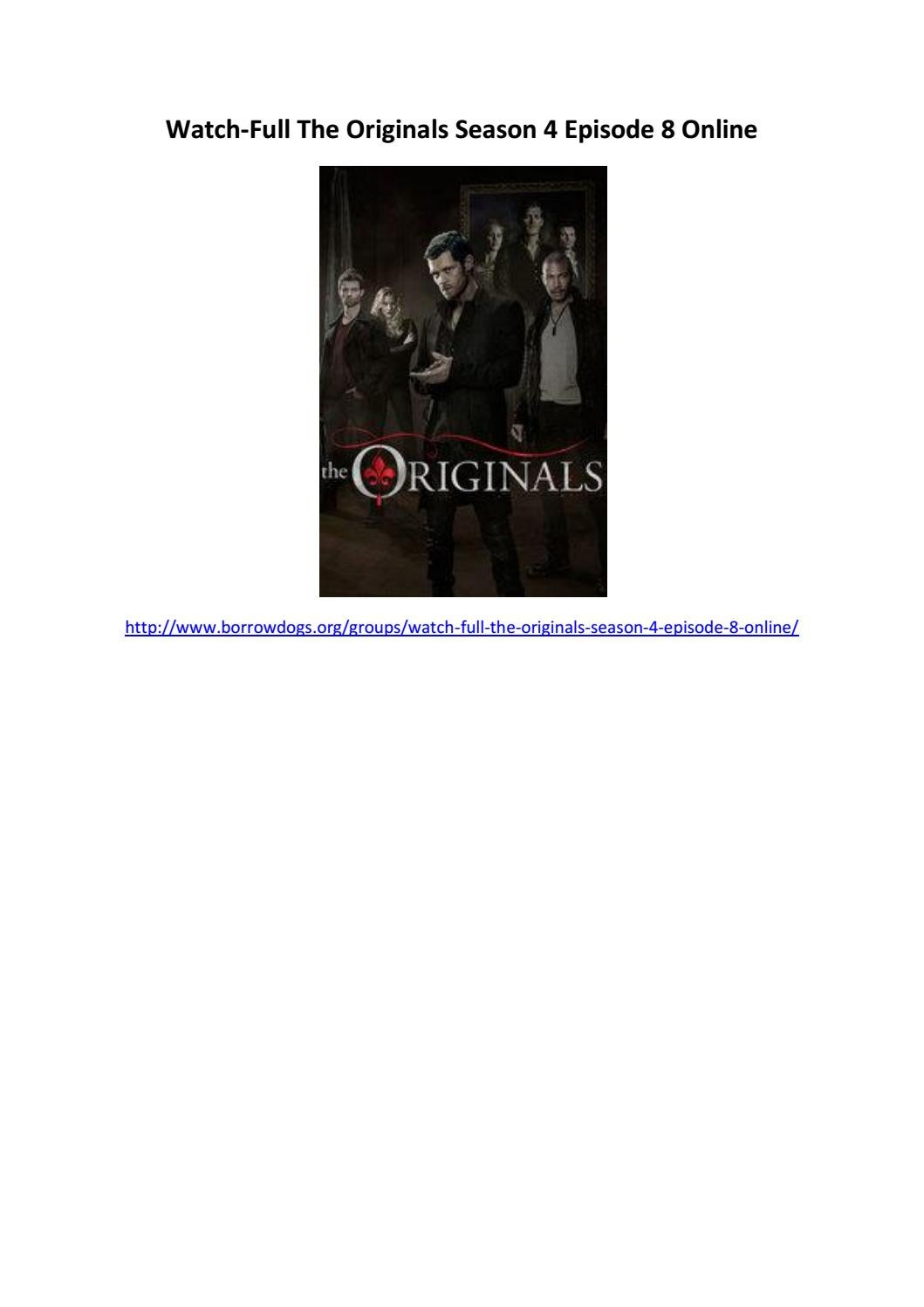 Watch full the originals season 4 episode 8 online