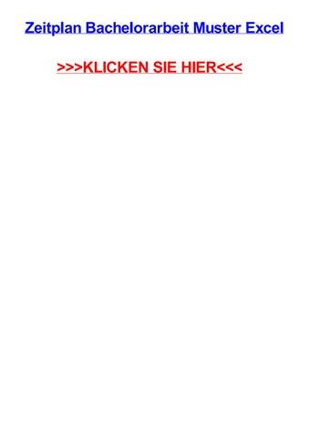 Zeitplan bachelorarbeit muster excel by Max Polansky - issuu