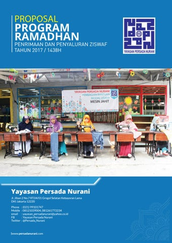 Proposal Ziswaf Yayasan Persada Nurani 2017 Over123 By Prb Issuu
