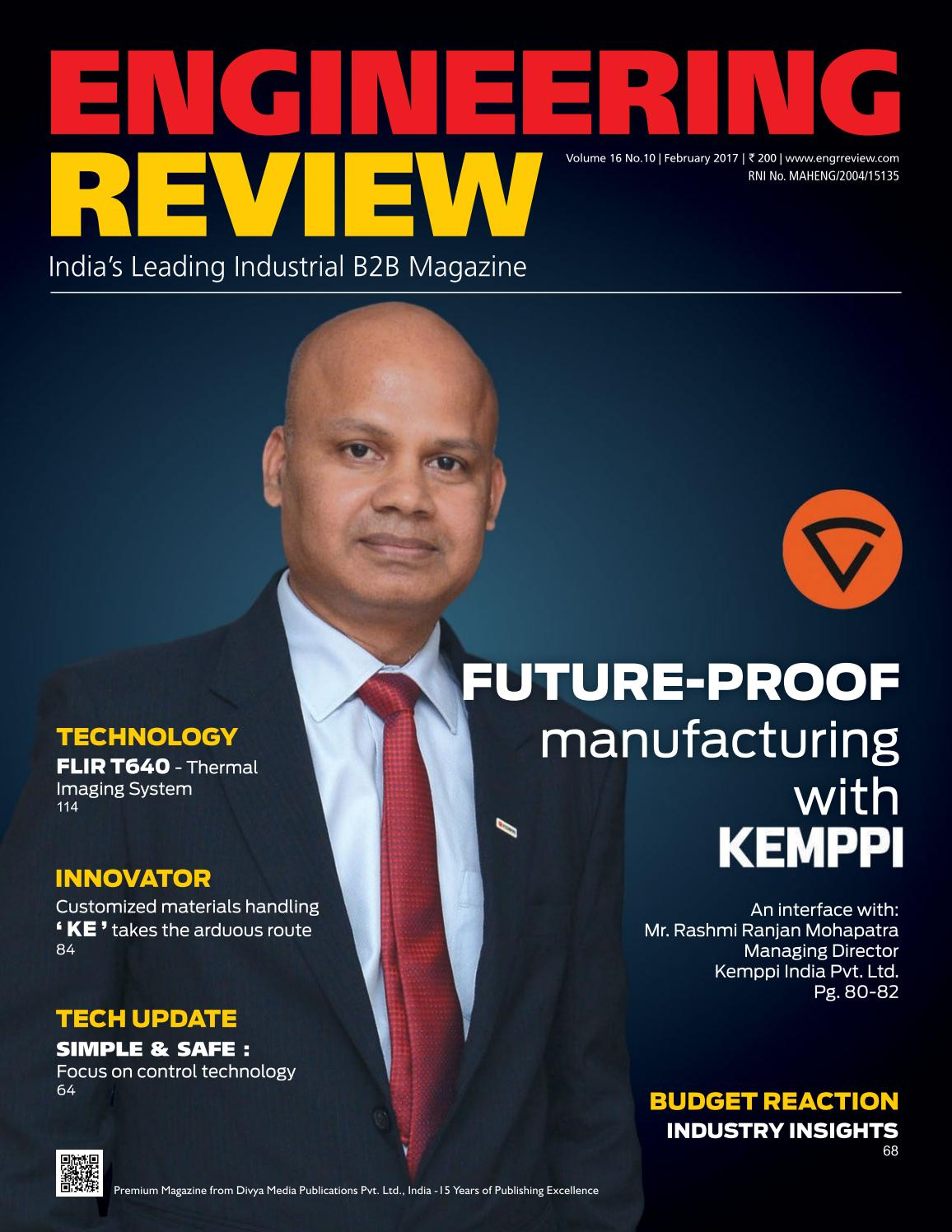 Engineering Review - February 2017 by Divya Media