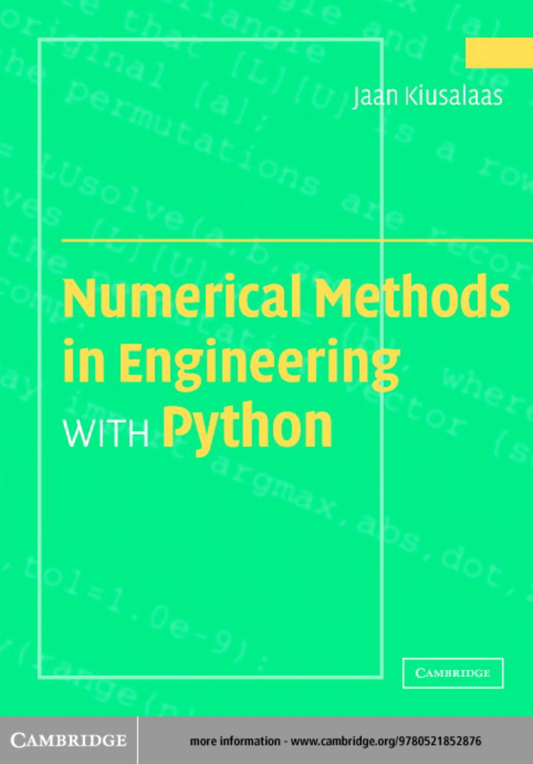 Numerical Methods in Engineering with Python by Voila-eBooks