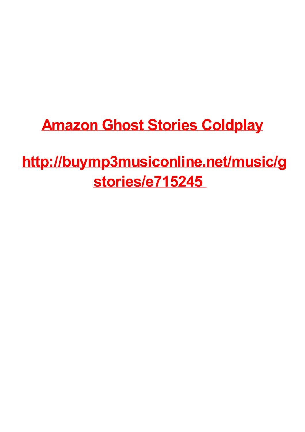 Amazon Ghost Stories Coldplay By Max Polansky Issuu