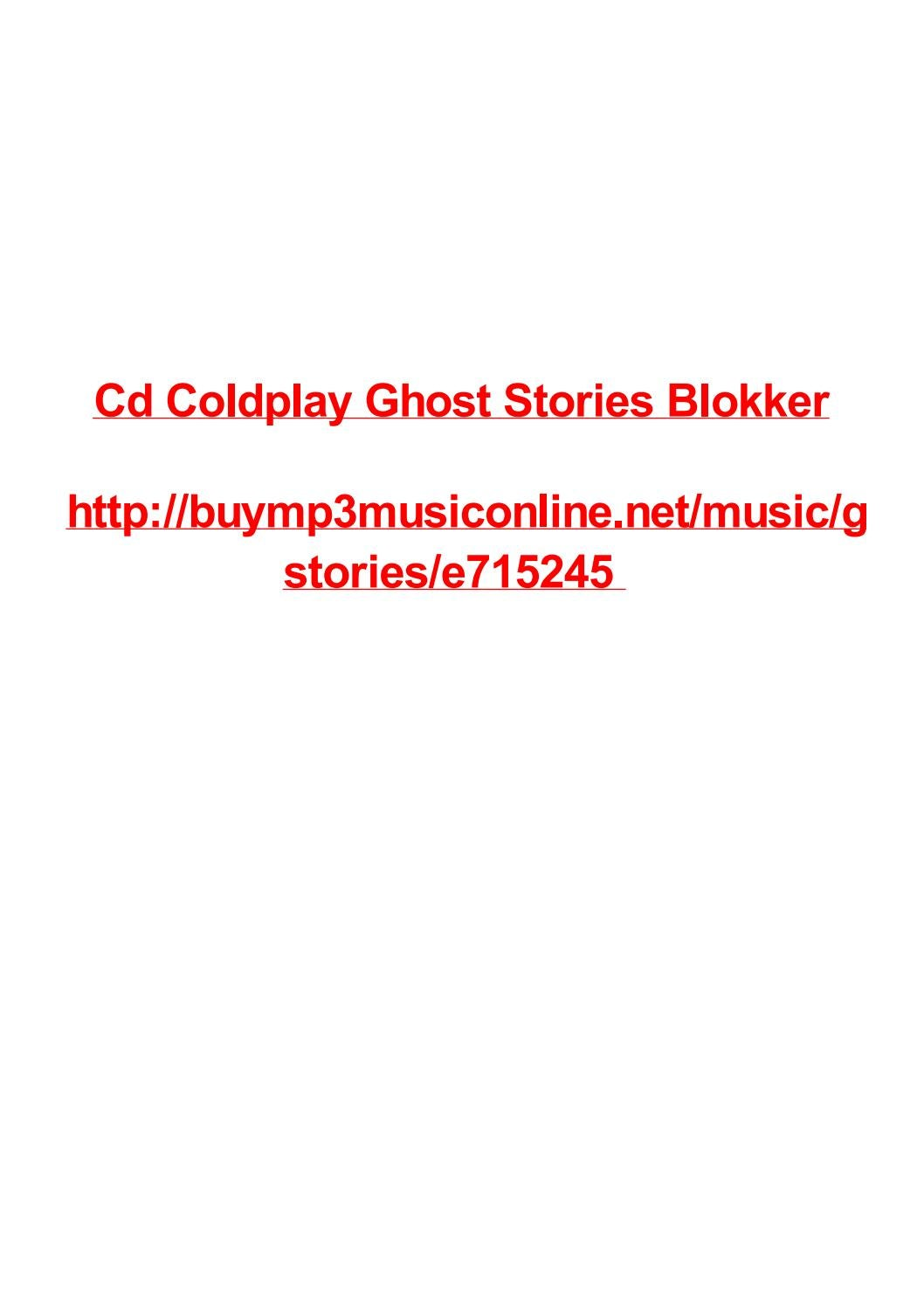 Cd coldplay ghost stories blokker by Max Polansky - issuu