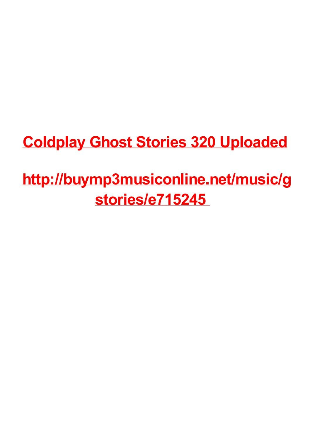 Coldplay Ghost Stories 320 Uploaded By Max Polansky Issuu