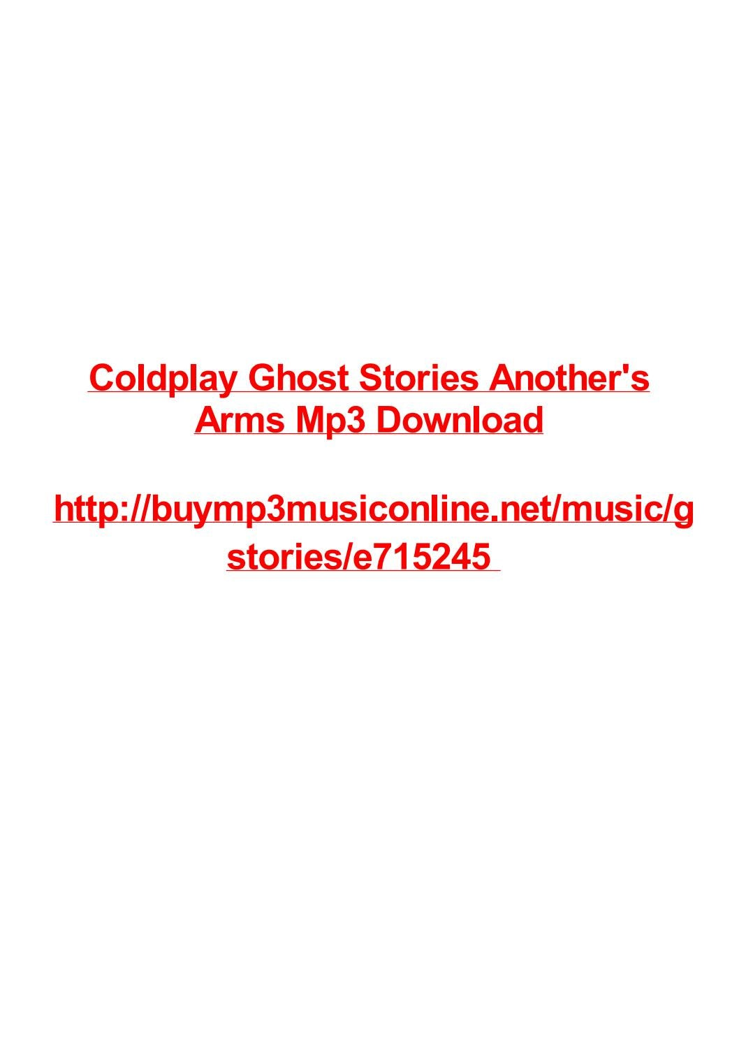Coldplay ghost stories anothers arms mp3 download by Max Polansky