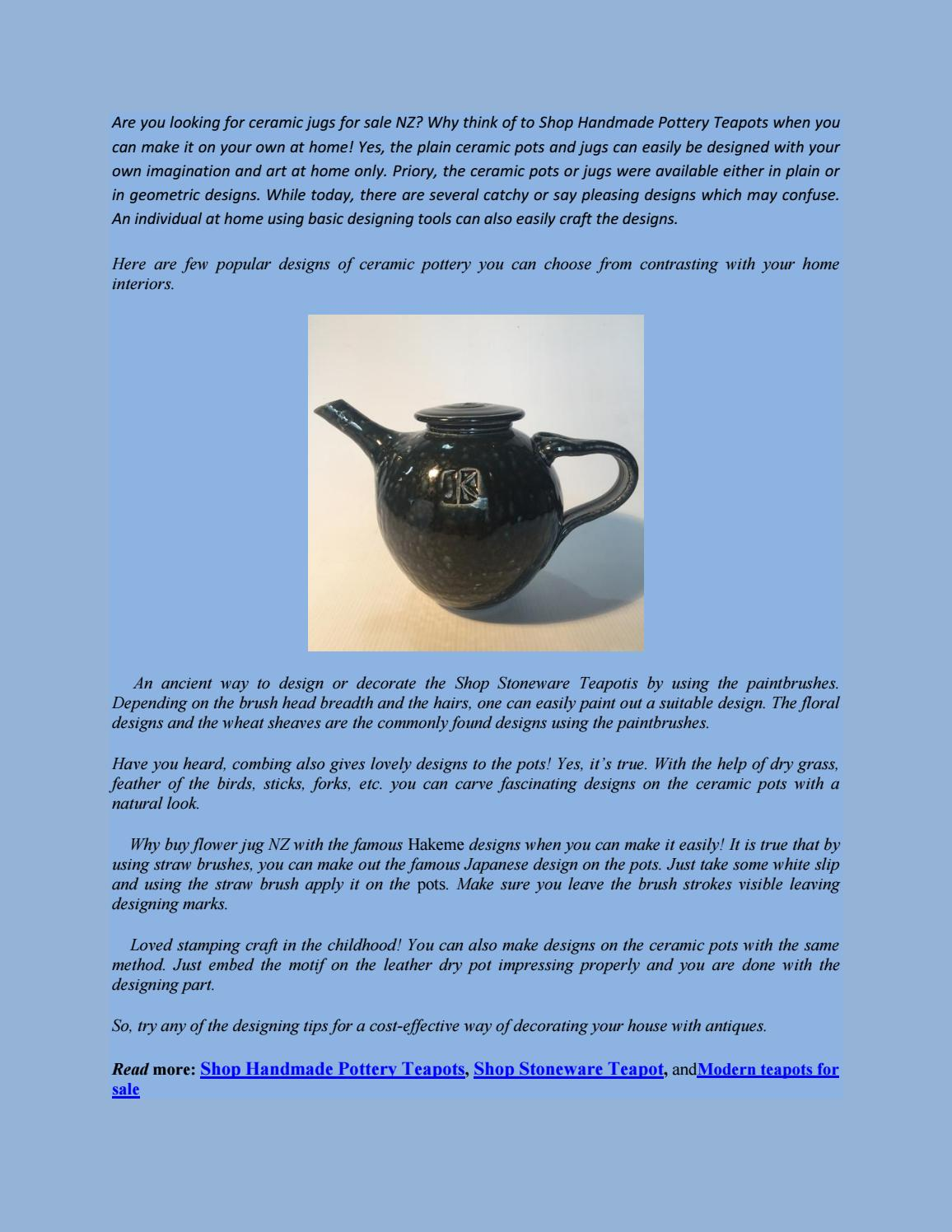 Shop Stoneware Teapot By Kim Morgan   Issuu