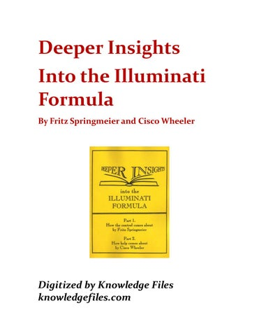 Deeper Insights Into The Illuminati Formula By Openallstations Issuu