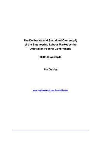 Engineer Oversupply by Jim Oakley - issuu