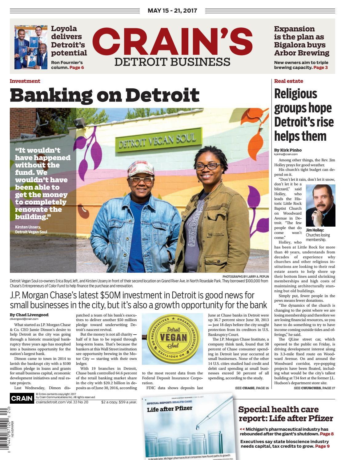 Crain\u0027s Detroit Business, May 15, 2017 issue by Crain\u0027s Detroit ...