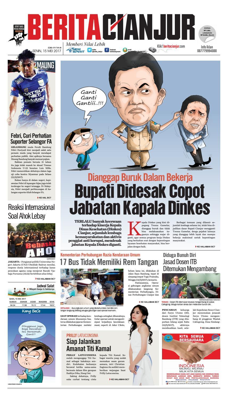 Berita Cianjur Bupati Didesak Copot Jabatan Kapala Dinkes By