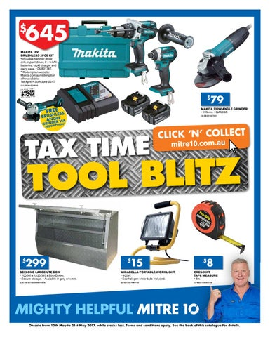 Mitre 10 Tax Time Tool Blitz catalogue May 2017 by Echo