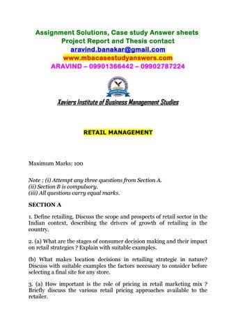 types of retail strategies