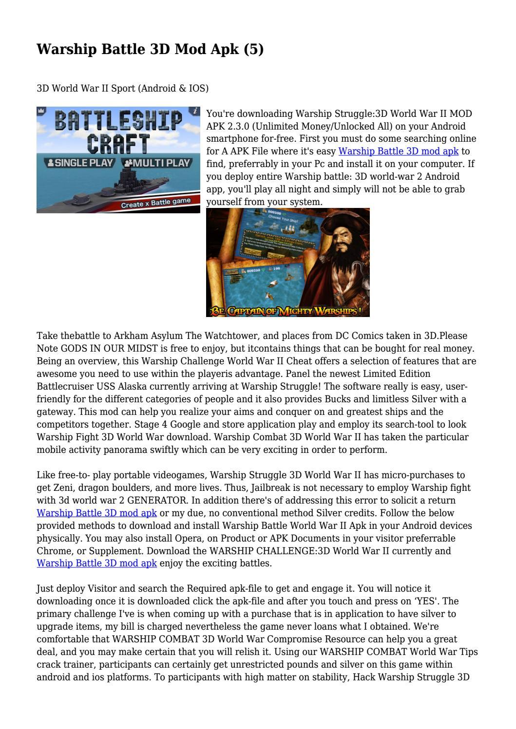 Warship Battle 3D Mod Apk (5)    by adam8myers2 - issuu
