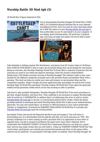 warship battle 3d mod apk free shopping