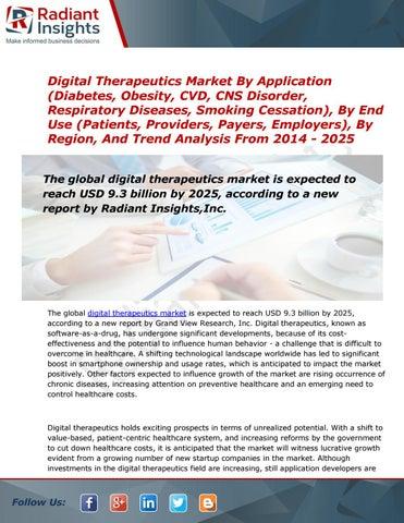 Digital Therapeutics Market Analysis, Treand, share and size