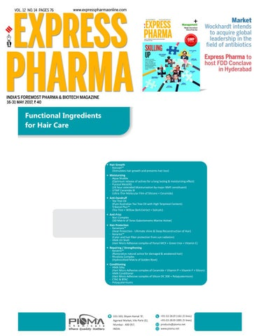 Express Pharma (Vol.12, No.14) May 16-31, 2017 by Indian Express - issuu