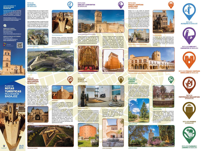Mudei As Rotas E Meus Planos: Plano De Rotas Turísticas Pela Cidade De Badajoz By