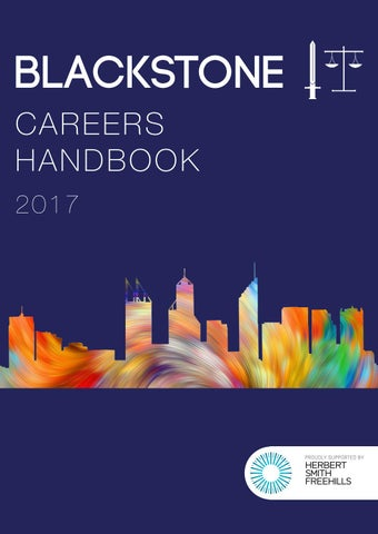 Blackstone 2017 careers handbook by blackstone society issuu page 1 malvernweather Choice Image