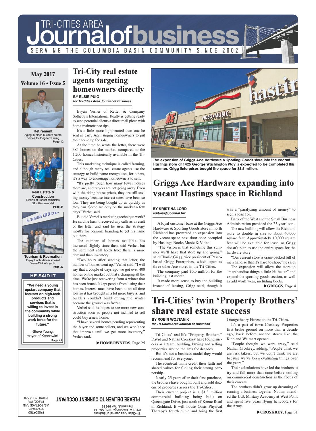 Tri-Cities Area Journal of Business -- May 2017 by Tri-Cities Area ...