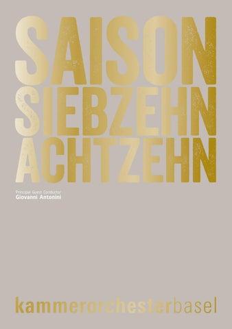 Kammerorchester Basel Saison 17/18 by Kammerorchester Basel