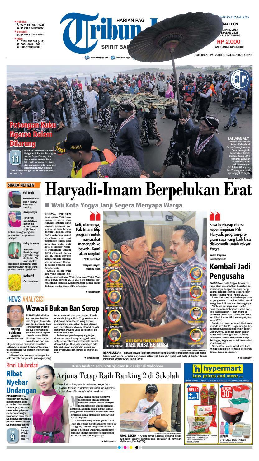 Tribunjogja 28 04 2017 By Tribun Jogja Issuu Produk Ukm Bumn Kain Batik Middle Premium 3 Bendera 01