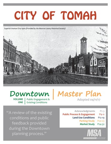 Tomah wi downtown master plan by msa professional services issuu city of tomah superior avenue circa 1900 provided by the monroe county historical society solutioingenieria Gallery