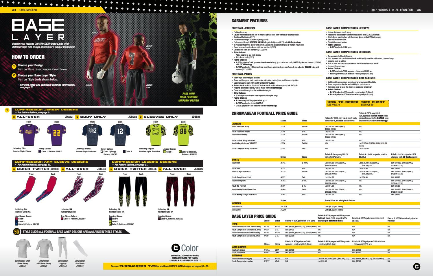 a2a1a1126 Alleson Athletic Football Catalog 2017 by LTS - Legacy Team Sales - issuu
