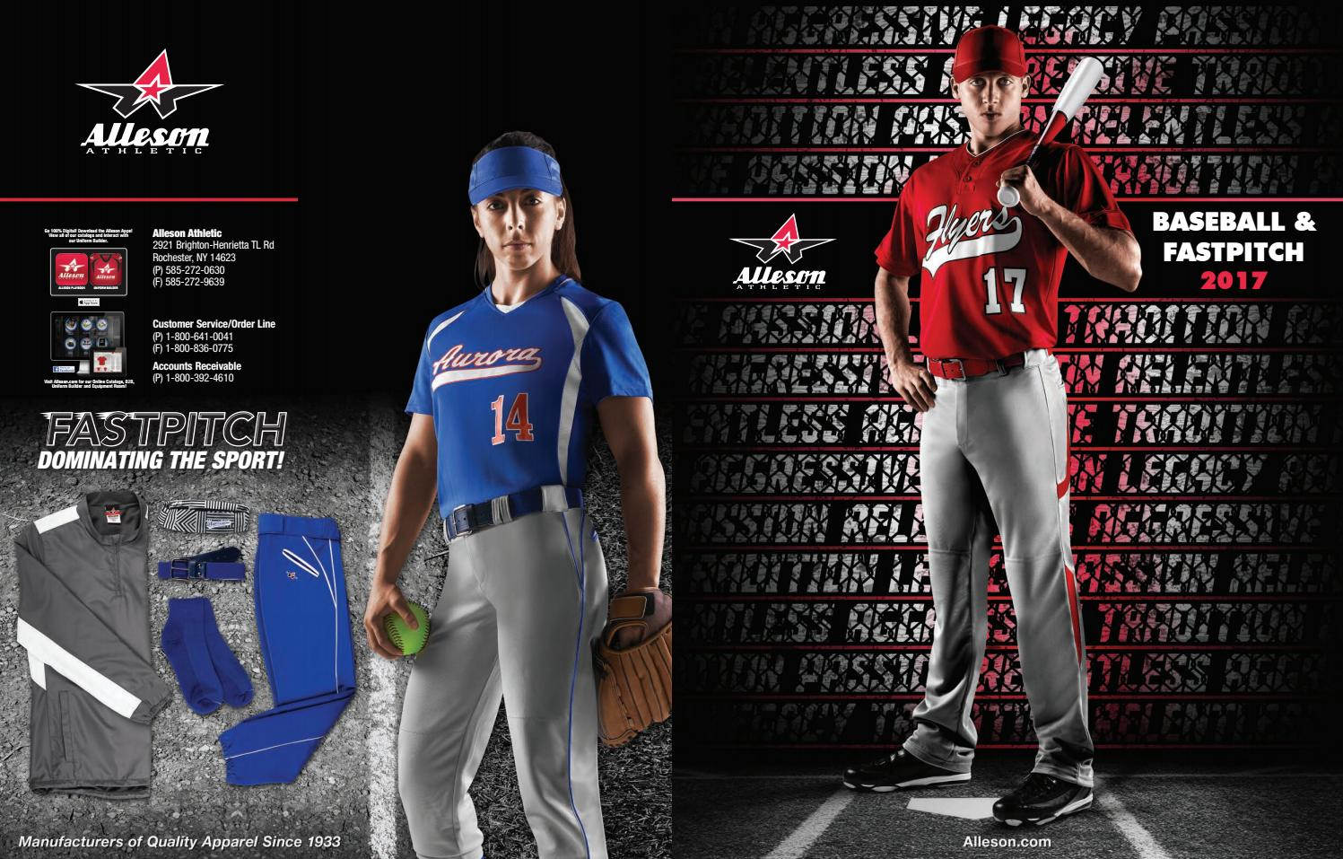 9dd23a47f Alleson Athletic Baseball and Softball Fastpitch Catalog 2017 by LTS -  Legacy Team Sales - issuu