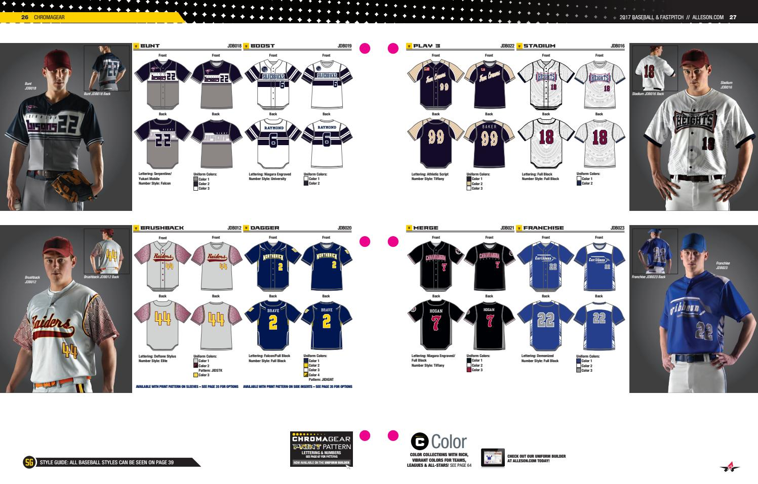 959863b1b73 Alleson Athletic Baseball and Softball Fastpitch Catalog 2017 by LTS -  Legacy Team Sales - issuu