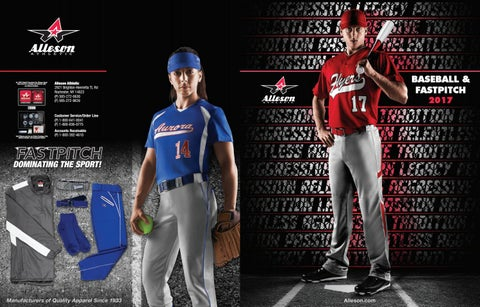 e7153c26 Alleson Athletic Baseball and Softball Fastpitch Catalog 2017 by LTS ...