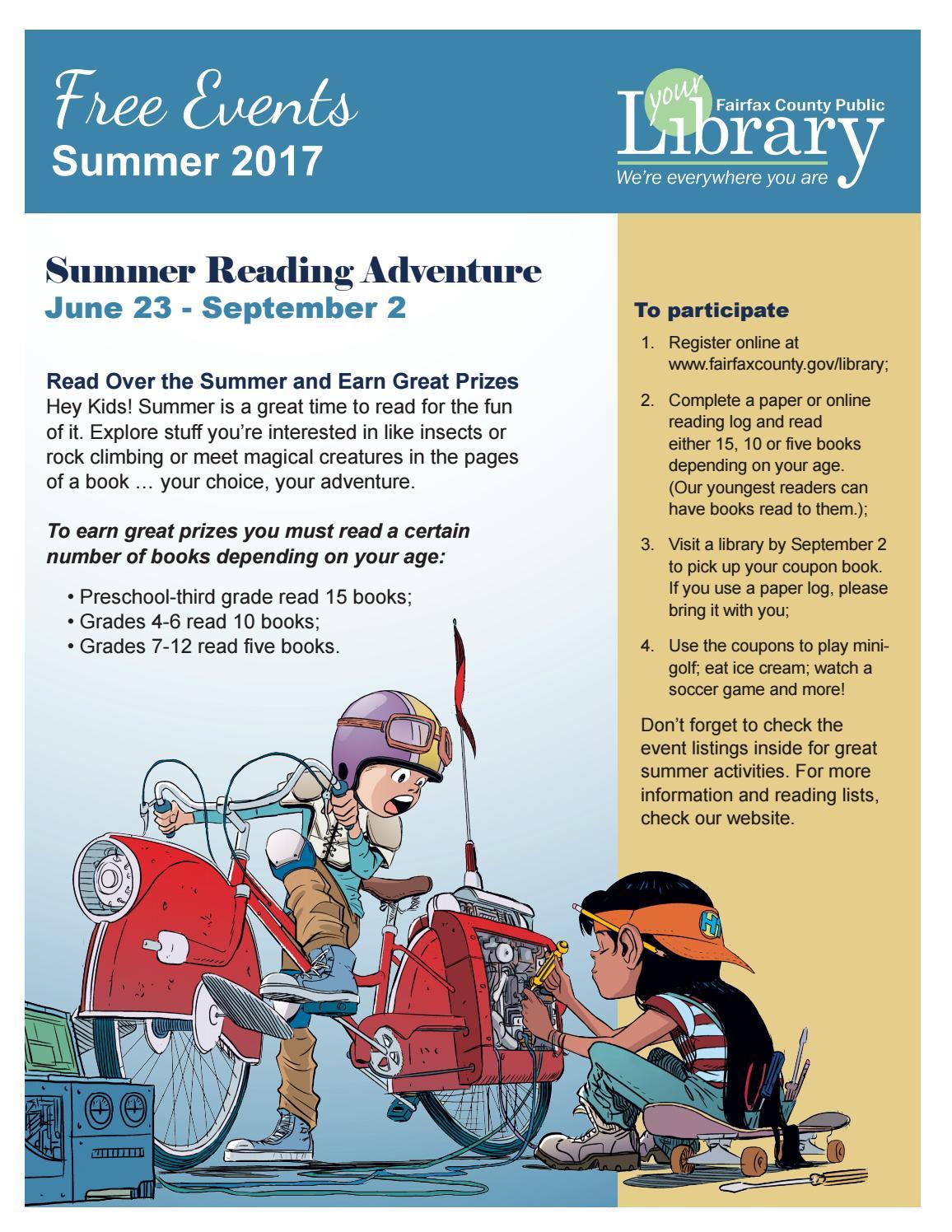 Summer 2017 Free Events Calendar by Fairfax County Public Library - issuu