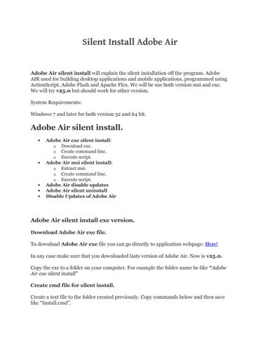 Adobe air silent install by Get It Solutions - issuu
