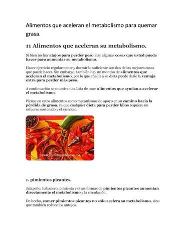 Como acelerar metabolismo para quemar grasa