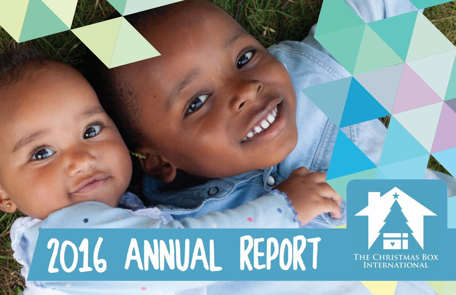 2016 Annual Report by The Christmas Box International - Issuu