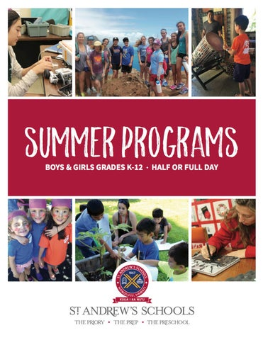 2017 Summer Programs By St. Andrews Schools   Issuu