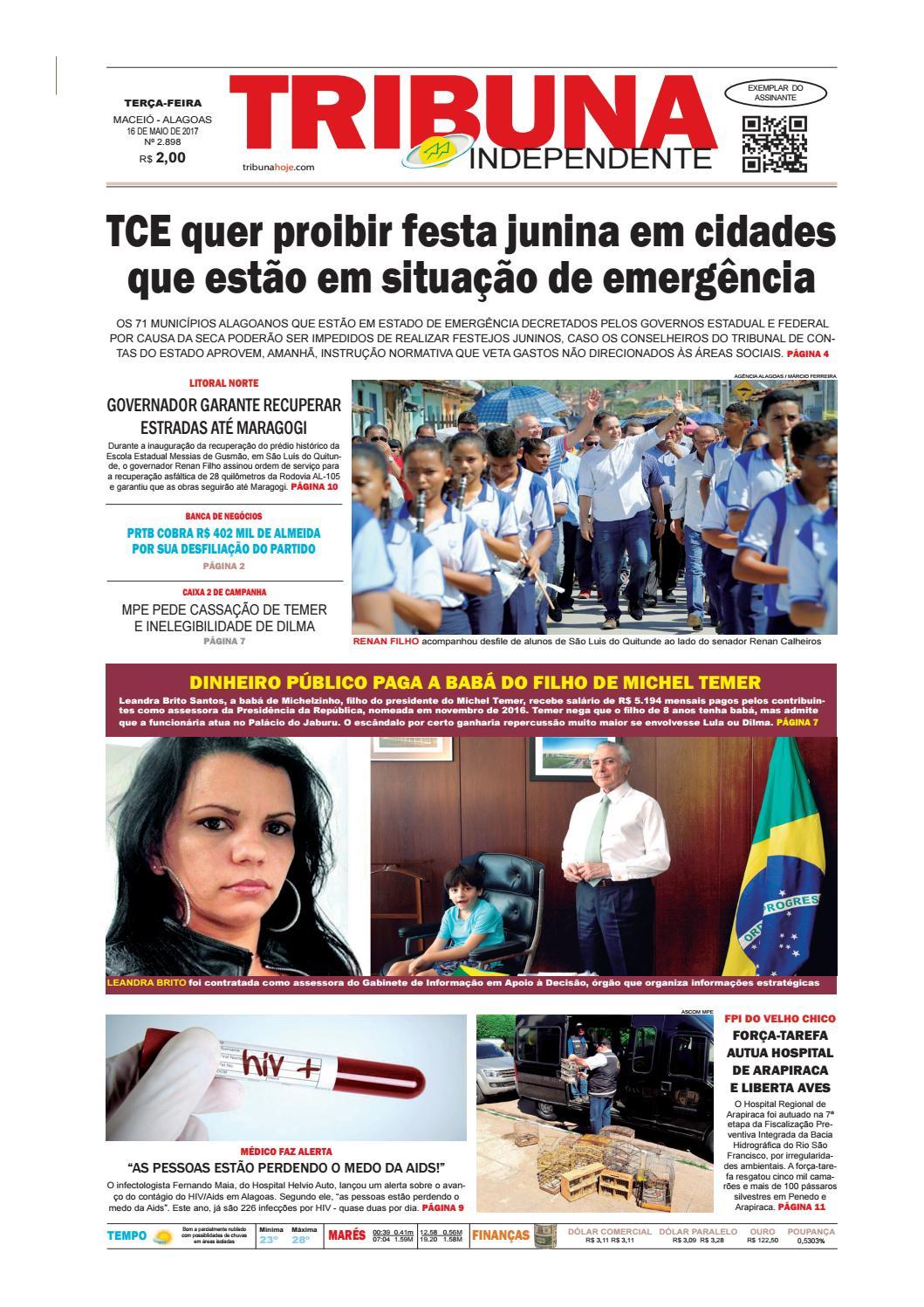 01255efbaa Edição número 2898 - 16 de maio de 2017 by Tribuna Hoje - issuu