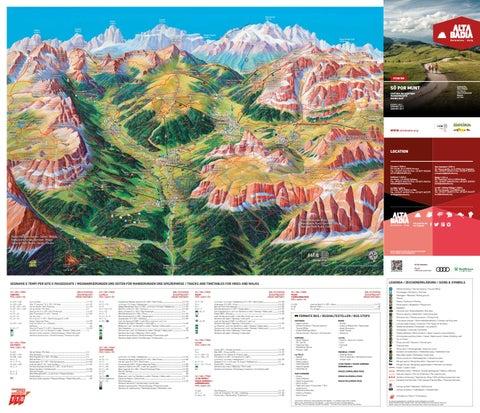 Cartina escursioni Wanderkarte S pur munt by Alta Badia issuu