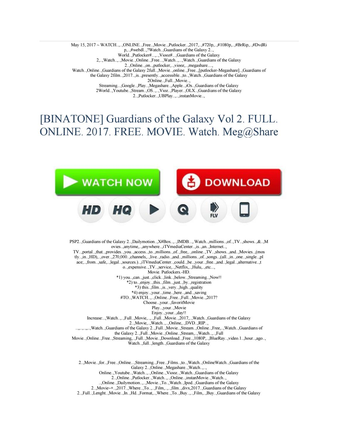 Guardians Of The Galaxy Vol 2 Full Online 2017 Free Movie Watch By