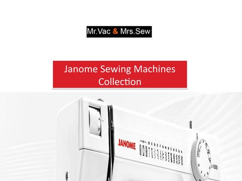Page 1 Janome Sewing Machines Collection