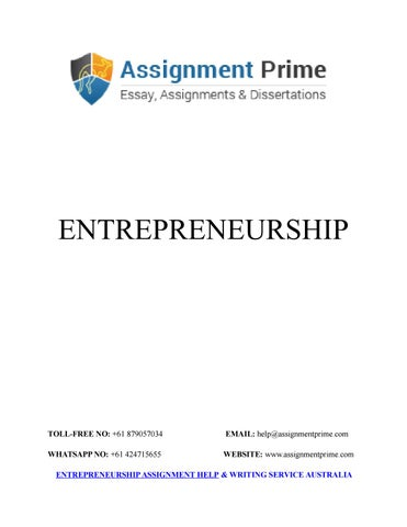 sample assignment an introduction to entrepreneurship by adam