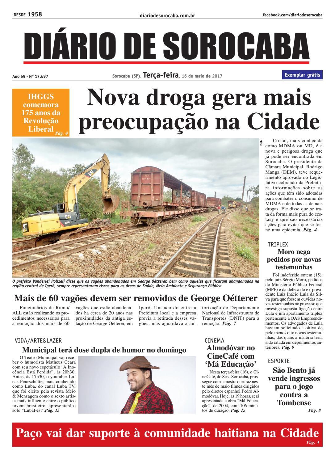 Edição 16 de maio de 2017 by DIÁRIO DE SOROCABA - issuu 663188c647703