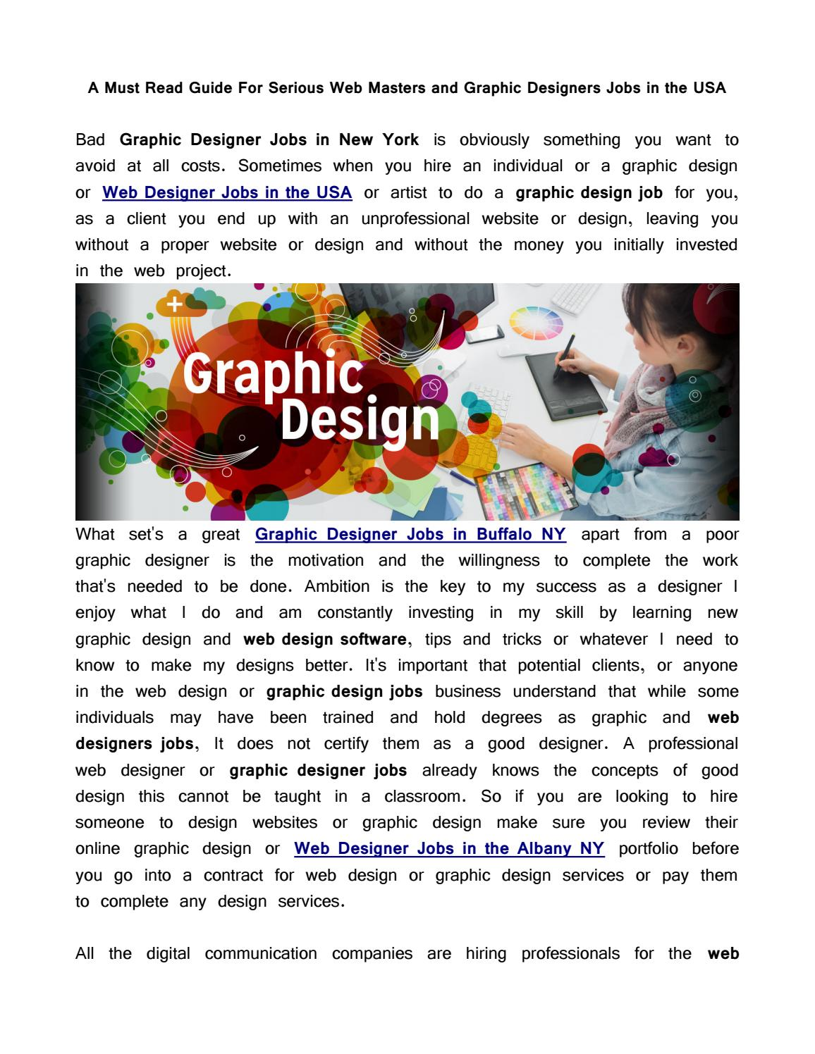 A Must Read Guide For Serious Web Masters And Graphic Designers Jobs In The Usa By Biphoo