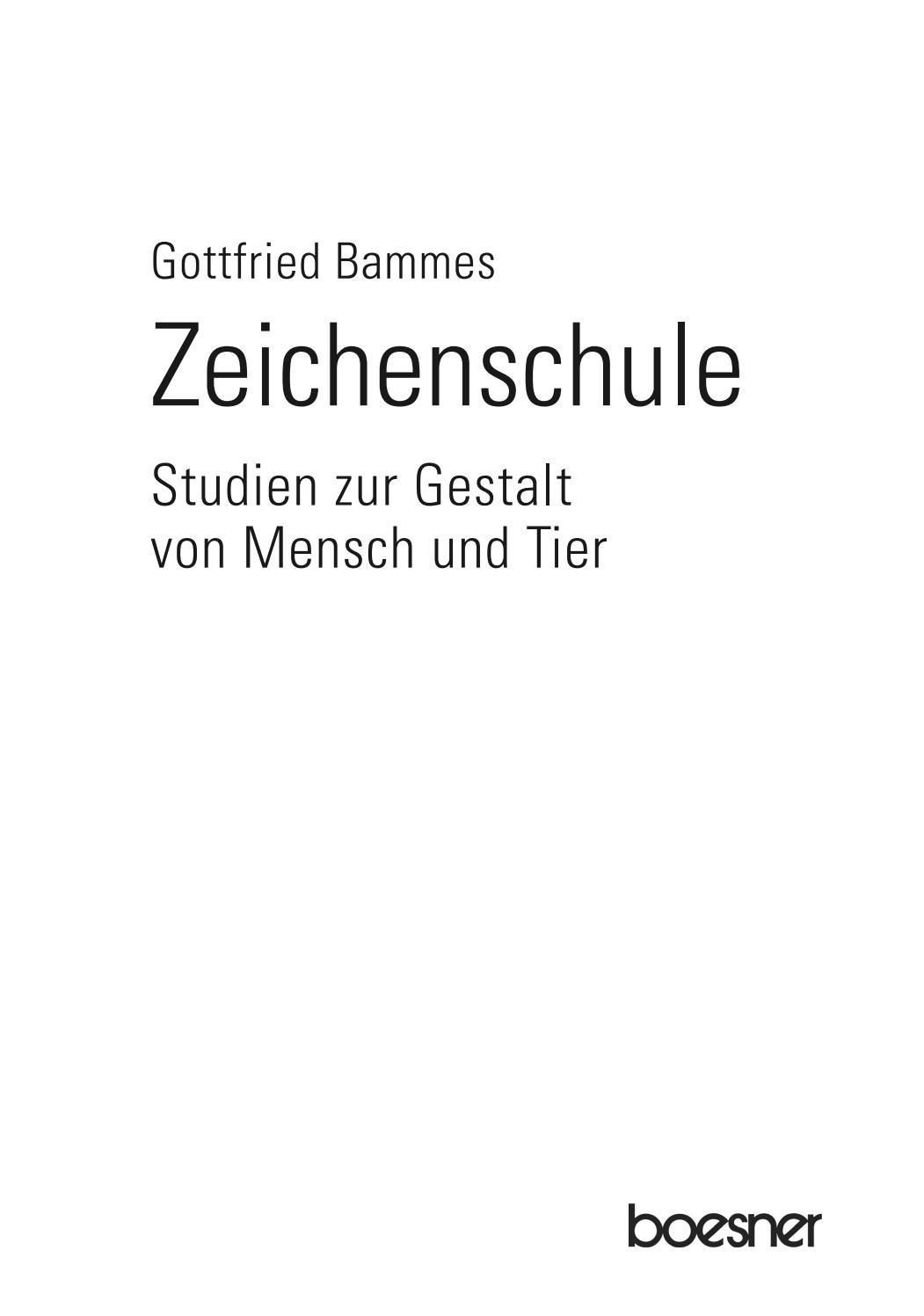 Leseprobe Zeichenschule Bammes | Mensch und Tier by boesner - issuu