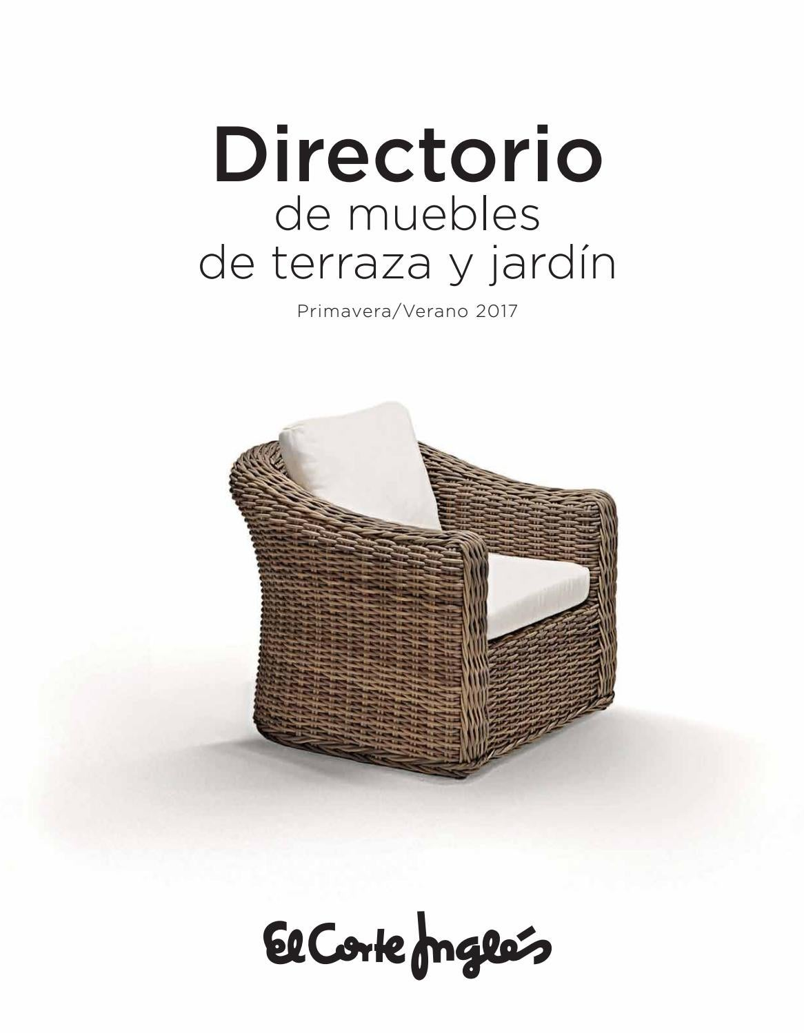 Muebles Para La Terraza Y Jard N Primavera Verano En El Corte  ~ Muebles De Terraza El Corte Ingles