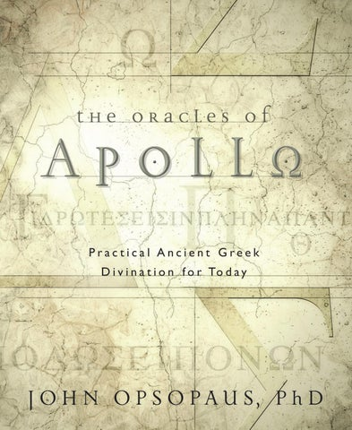 The oracles of apollo by john opsopaus phd by llewellyn worldwide the oracles of fandeluxe Choice Image