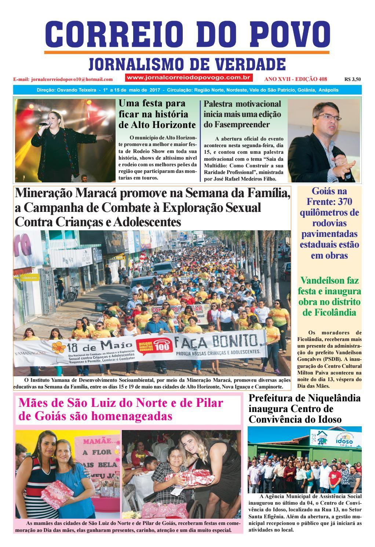 Edição 408 Jornal Correio Do Povo Goiás By Fabiano Souza