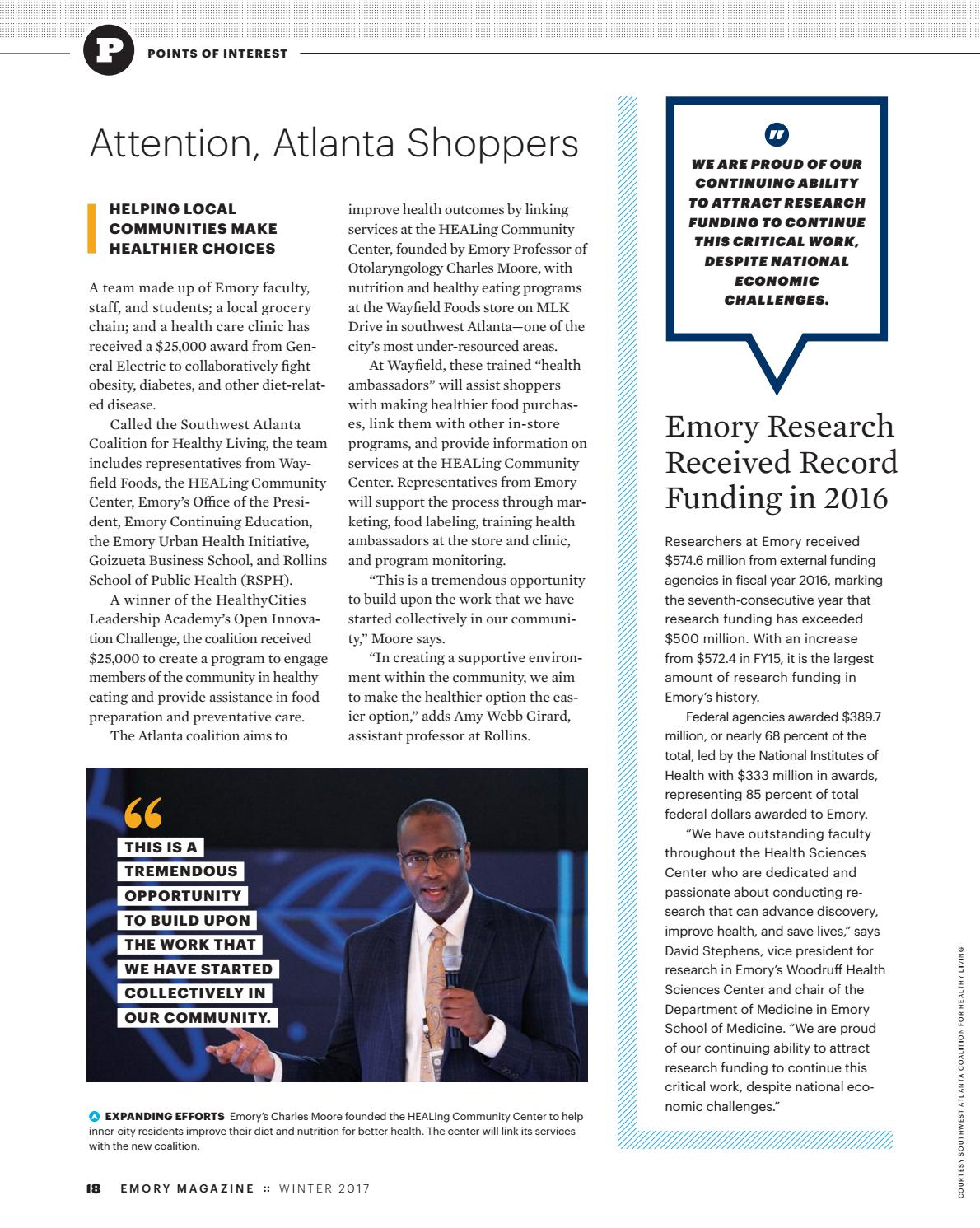 Emory Magazine / Winter 2017 by Emory University - issuu
