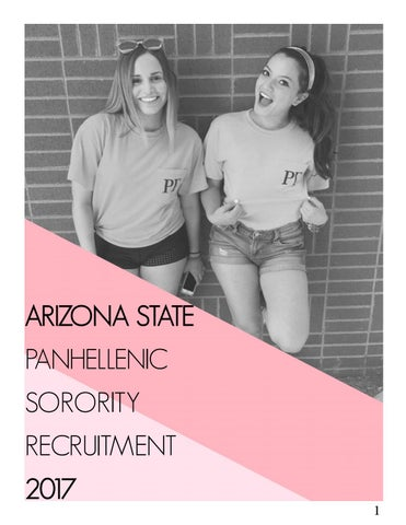 ASU Panhellenic Sorority Recruitment 2017 Information Booklet By ...