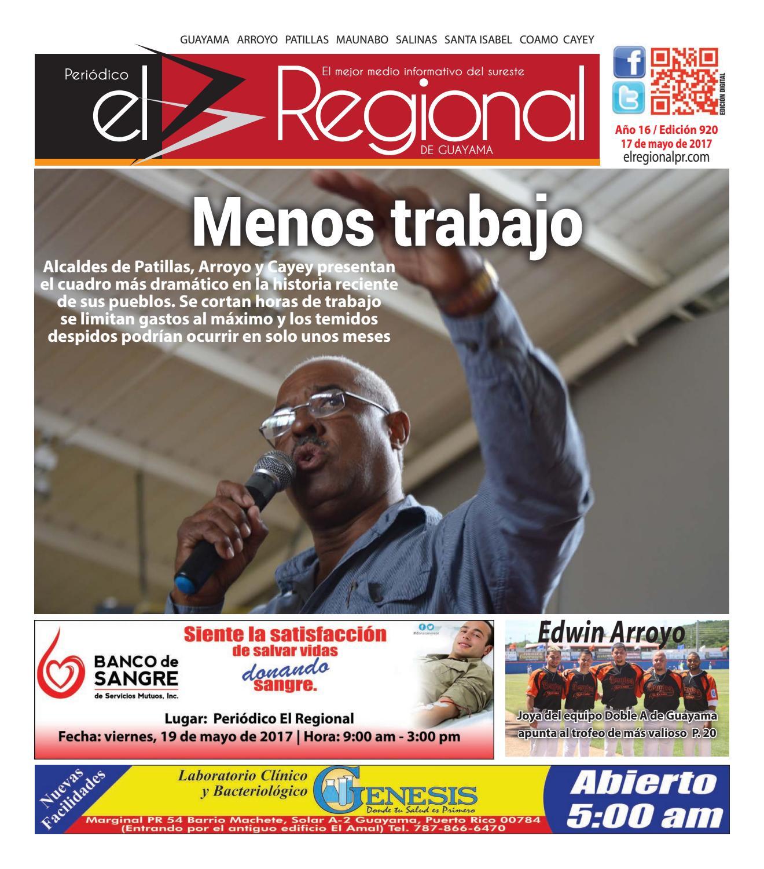 Peri Dico El Regional Edici N 920 By Peri Dico El Regional De  # Ahorro Muebles Cayey